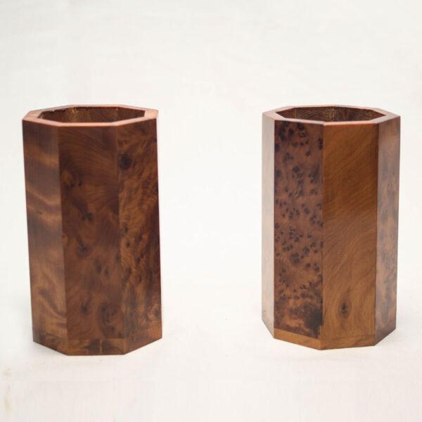 Porte stylo en bois thuya