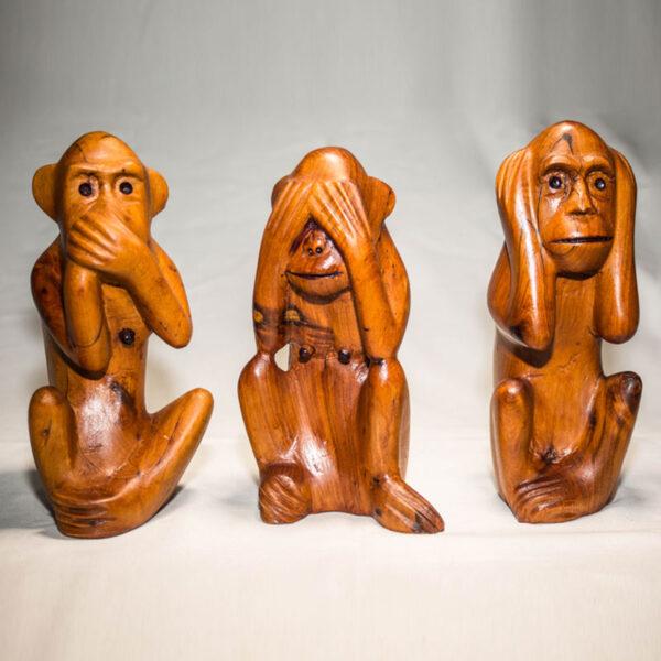 sculpture les trois singes